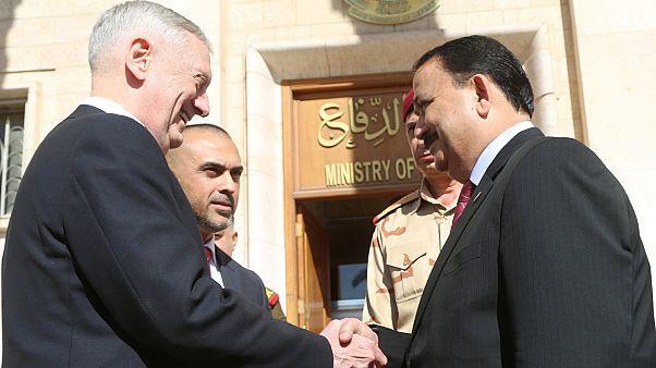 Primera visita a Irak de James Mattis, nuevo jefe del Pentágono