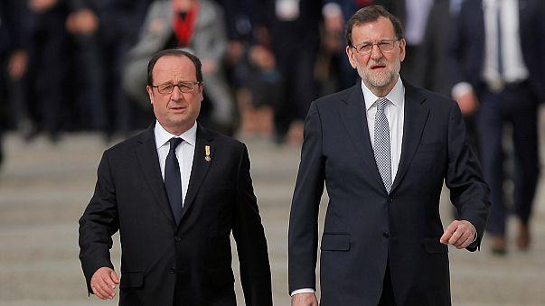 Vertice Spagna-Francia, Hollande contro l'antieuropeismo