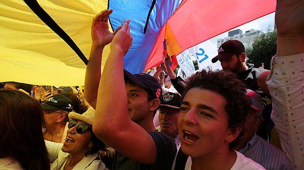 تجمع معترضان اکوادوری بدلیل طولانی شدن شمارش آرای انتخابات ریاست جمهوری