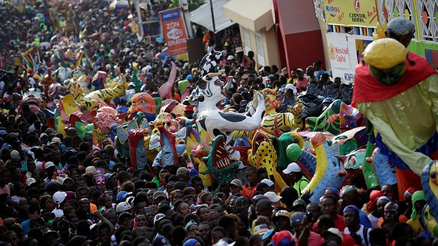 Haitians begin Carnival celebration after confronting a hurricane, earthquake and political crisis.