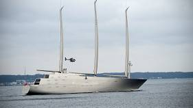 Russian super yacht impounded on maiden voyage