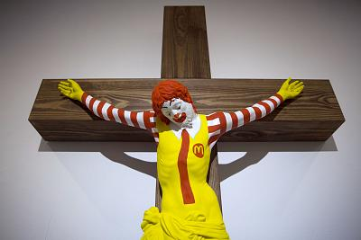 """The """"McJesus"""" artwork was sculpted by Finnish artist Jani Leinonen."""