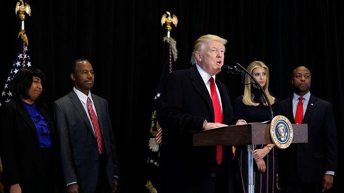 Trump denounces anti-Semitic threats in the US