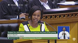 South Africa's youngest MP dazzles as she delivers her first address