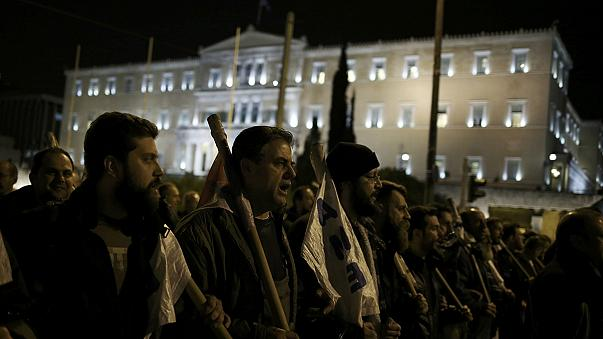 Demonstration gegen Sparprogramm in Athen