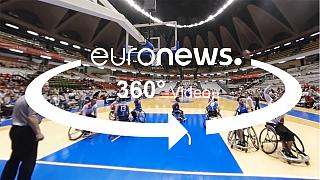 Verschärfte Bedingungen: Lyoner Rollstuhlbasketball in 360 Grad