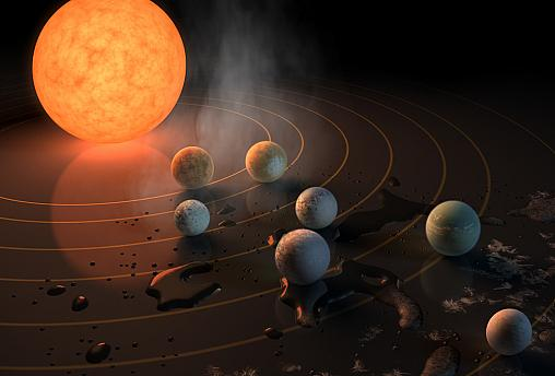 Astronomers find seven Earth-like planets that could host life