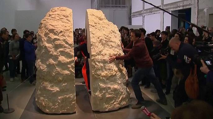 One hard act to follow - French artist Abraham Poincheval entombed in a rock for a week
