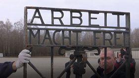 Stolen Dachau concentration camp gate returned