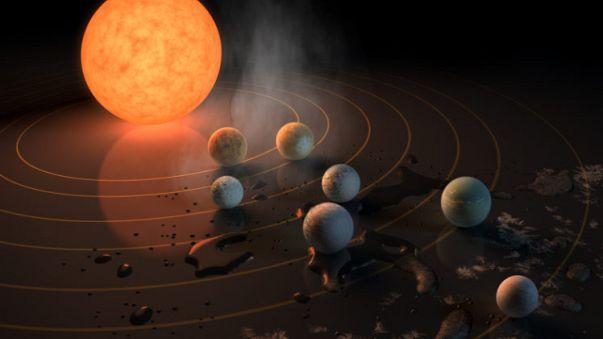 7 كواكب قابلة للحياة، على بعد 40 سنة ضوئية