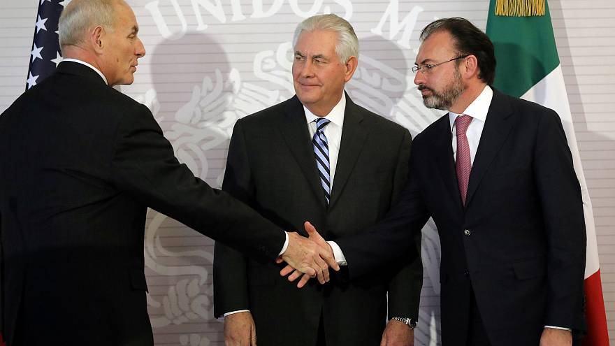 Senior US officials get a frosty reception in fiery Mexico