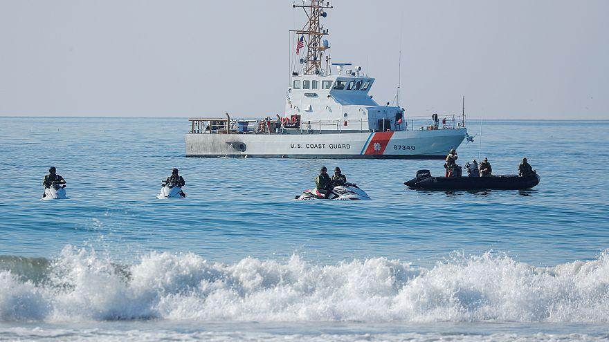 U.S. Border agents and the Coast Guard patrol the Pacific Ocean