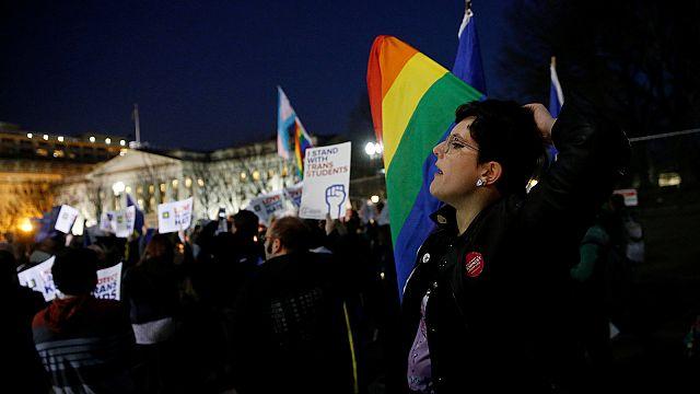 'A disaster': activists challenge Trump's transgender move