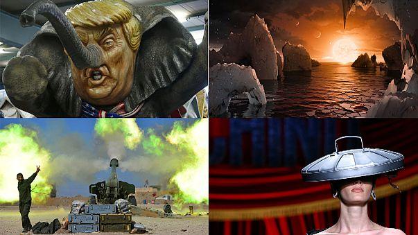 من موضة الزبالة إلى كاريكاتور الأبواق.. صور من العالم في أسبوع