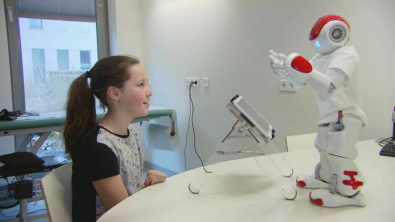 Robots interact with children to help with their diabetes