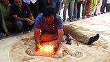 نقاشی با آتش؛ امید به ثبت یک رکورد جهانی