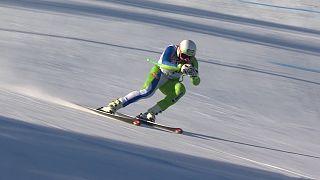 Bostjan Kline gagne la descente de Kvitfjell