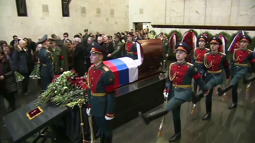 تشييع جنازة السفير فيتالي تشوركين في موسكو