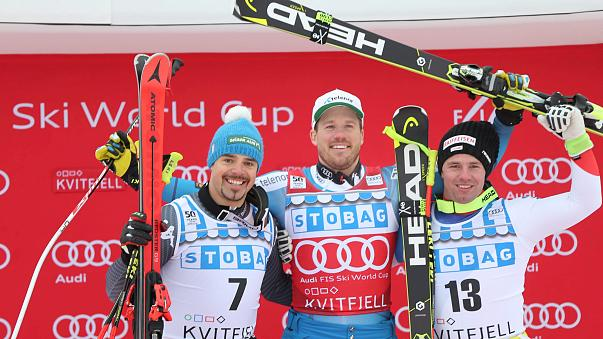 Alpine skiing: Jansrud charges towards downhill title with victory in Kvitfjell