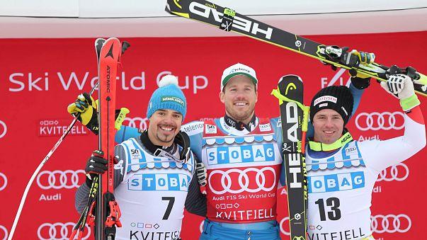 التزلج الألبي: يانسرود يفوز في الهبوط بالنرويج