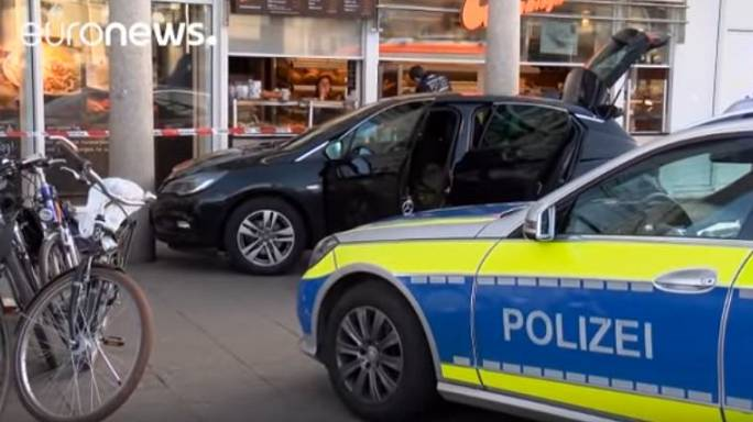 One dead and driver shot by police after hitting pedestrians in Germany