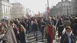 Manifestation anti-Le Pen à la veille de son meeting à Nantes