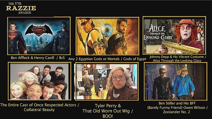 Assegnati a Hollywood i Razzies Awards ai peggiori film dell'anno
