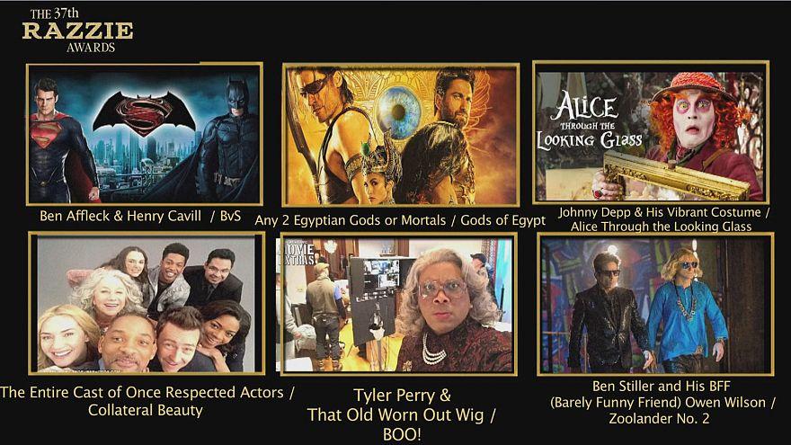 """فيلم عن هيلاري كلينتون يفوز بجائزة """"رازي"""" لأسوأ أفلام عام 2016"""