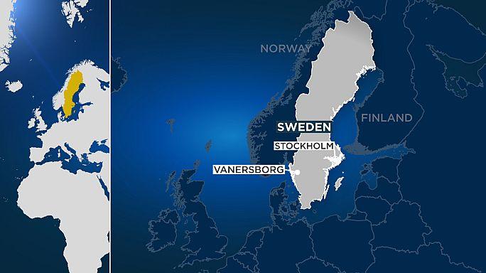 Kigyulladt a legnagyobb svéd menekültszálló