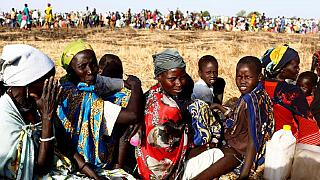South Sudan: People queue for food and vaccination in famine affected regions