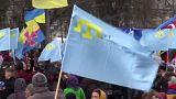 مسيرة لتتار القرم في كيف في ذكرى ضم القرم إلى روسيا