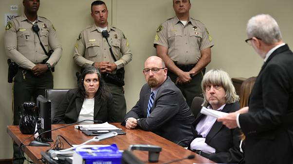 Image: David Turpin and Louise Turpin appear in court for their arraignment