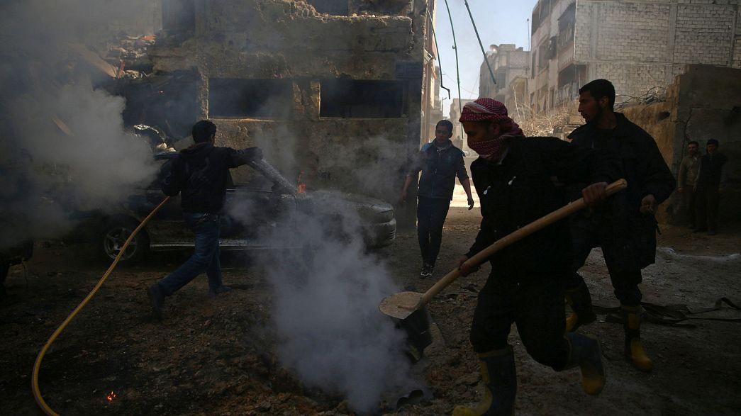 В інтернеті оприлюднили кадри наслідків бомбардування сирійських міст Дума та Хомс