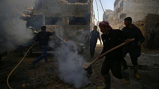 Warplanes bomb rebel-held areas around several Syrian cities