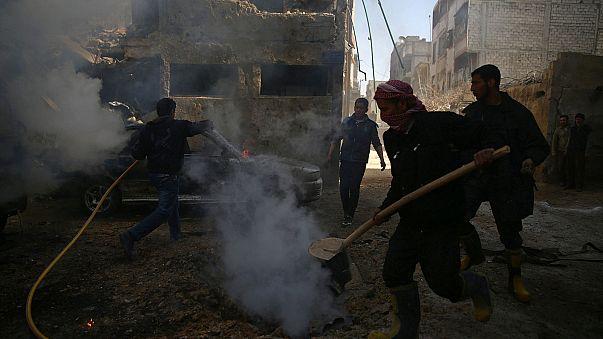 Warplanes bomb rebel-held areas around several Syrian cities