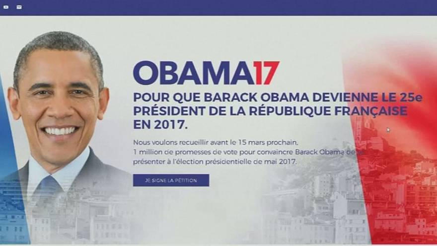 Lanzan una petición para que Obama sea candidato al Elíseo