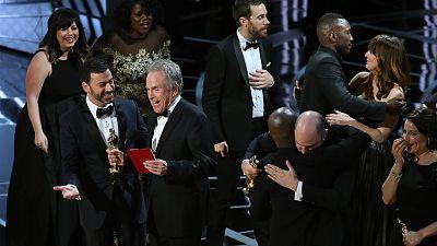 Glittering gaffe as Oscars go off script