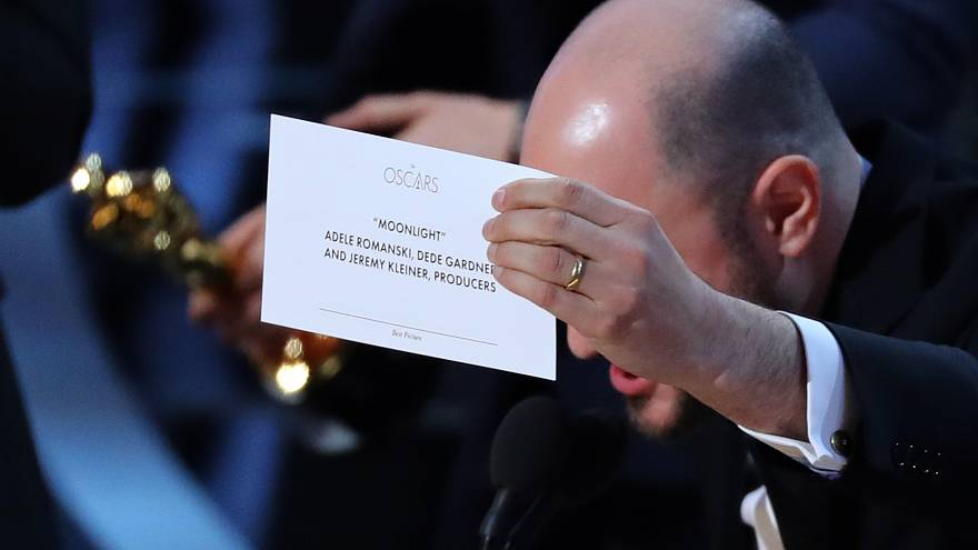 Oscars farce in pictures and social media reactions