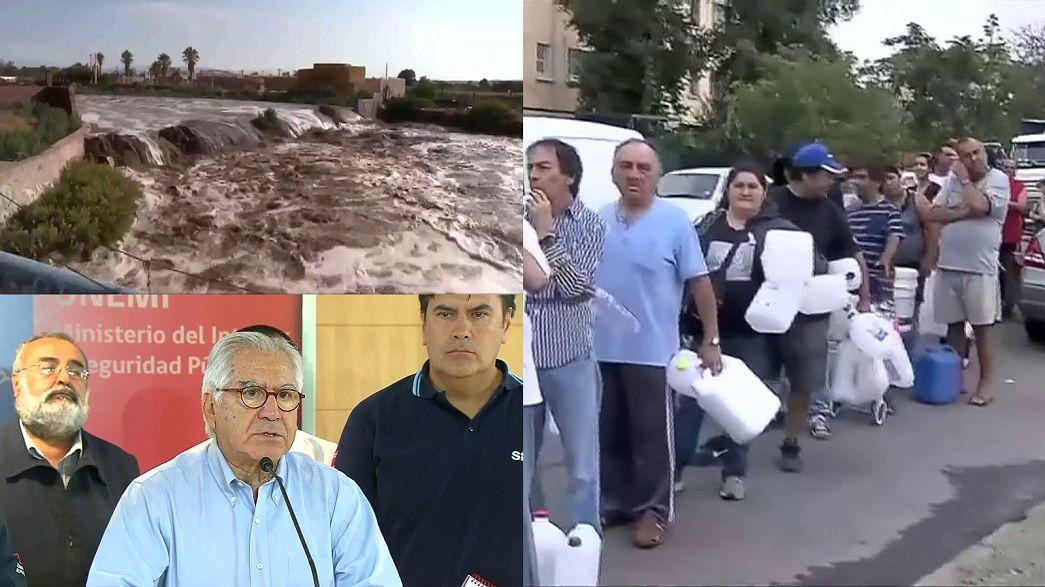 Emergenza maltempo in Cile: a Santiago manca l'acqua