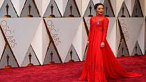 [Photos] No Oscars plaque, but Ethiopian-born Ruth Negga glowed in red