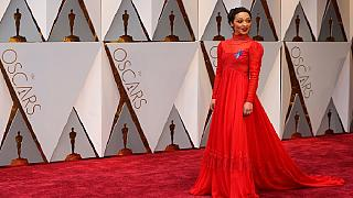 [Photos] No Oscars plaque, but Ethiopian-born Ruth Negga glowed in red