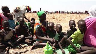 Güney Sudan'da kıtlıktan kaçan binlerce kişi komşu ülkelere sığınıyor
