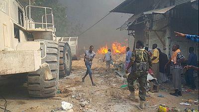 2 killed as fire engulfs Mogadishu's main market