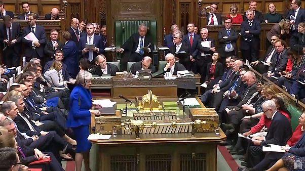 Image:  Theresa May in Parliament