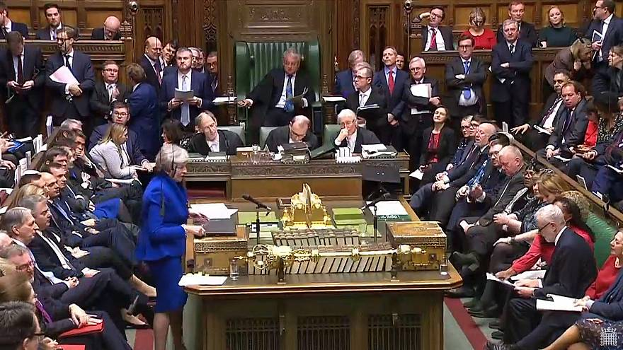 Image:  Theresa May in Parliament