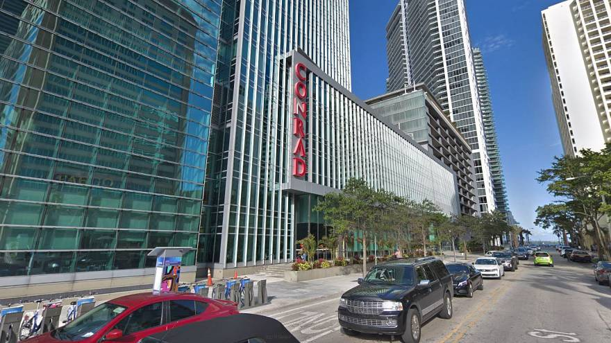 Image: The Conrad Miami hotel, part of the Park Hotels and Resorts trust.
