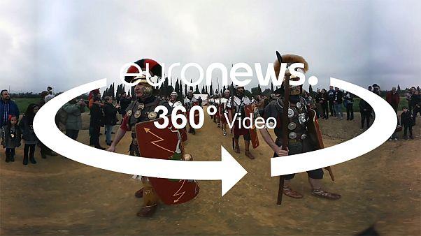 [Vídeo 360º] Legionarios y gladiadores reviven en la ciudad romana de Itálica