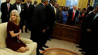 """Trump's Conway causes controversy for """"disrespectful"""" White House picture"""