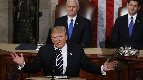 دونالد ترامپ نخستین نطق خود را در کنگرۀ آمریکا ایراد کرد