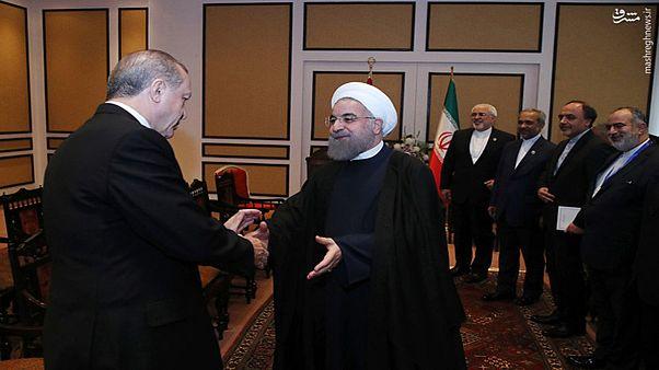 دیدار روسای جمهور ایران و ترکیه در حاشیه اجلاس اکو